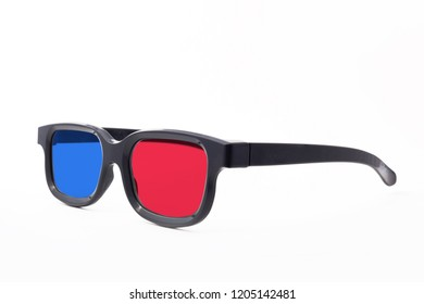 3d glasses on a white background isolated. glasses rotated to the left.