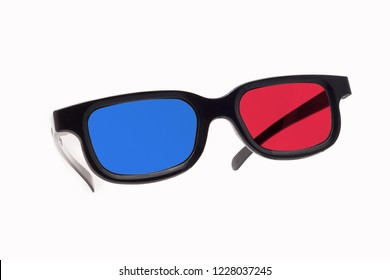 3d glasses on a white background isolated. As if hanging in the air