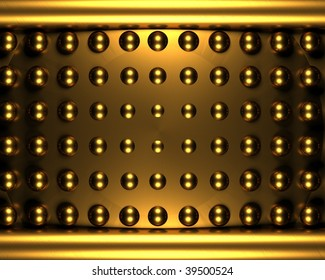 3d gold background