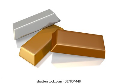 3D gold concept - great for topics like finance, banking treasure etc.