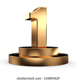 3d gold number 1 from my number collection