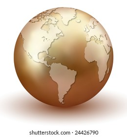 3D Golden Earth