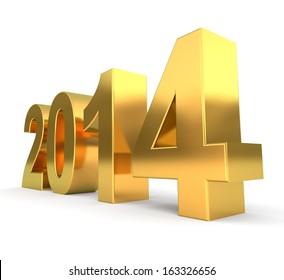 3d golden new year 2014