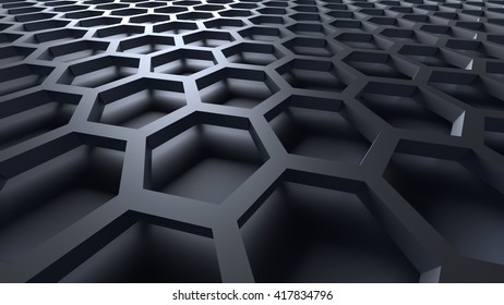 3D gray color abstract cellular lattice background
