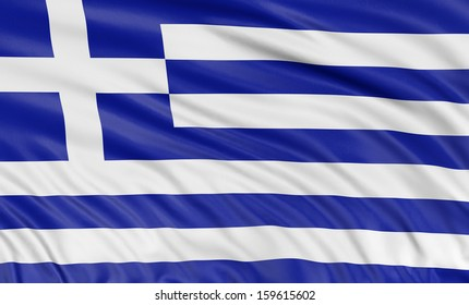 3D Greek flag  (clipping path included)
