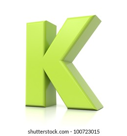 3D green letter collection - K