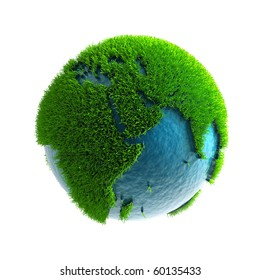 3D green planet Africa