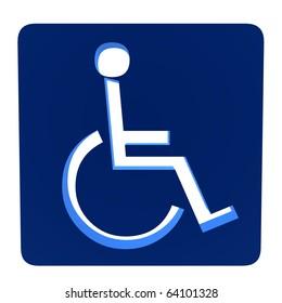 3D handicap symbol on a white background