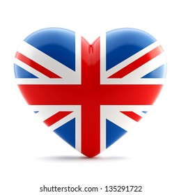 3d heart flag collection - UK theme