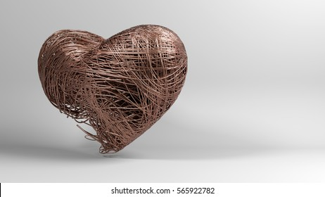 3D heart illustration rendering