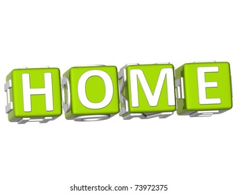 3D Home Cube text on white background