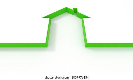 3d house form line contour