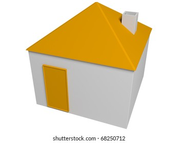 3d house isolated in white