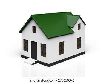 3D. House, Residential Structure, Isolated.