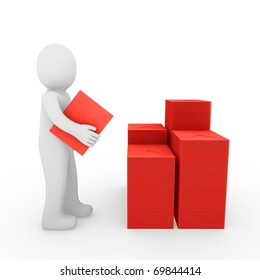3d, human, letter, mail, red, email, post, business