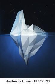 3D Iceberg render