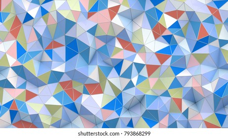 3d illustration. Abstract background with poly