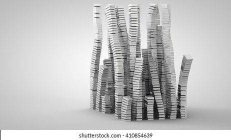 3D illustration of abstract columns