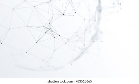 3d illustration abstract future network on white background