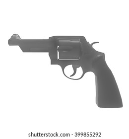 3D illustration abstract of  revolver