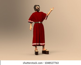 3d illustration of an actor from ancient Greece