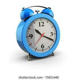 3d illustration of alarm clock over white background