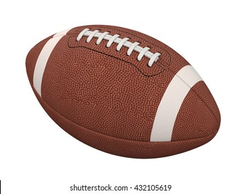 3d illustration of american football ball isolated on white background