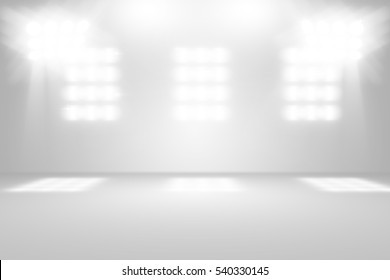 3D illustration background / Abstract gray empty room studio with spotlight  gradient used for background and display your product