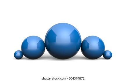 3D Illustration Ball Concept blue