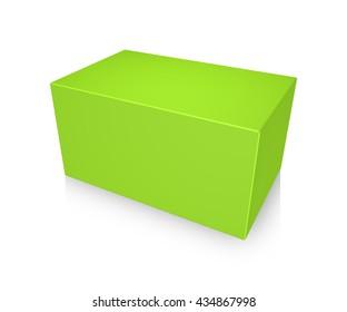 3d illustration of Blank box on white background