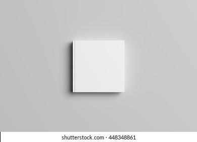3D Illustration of blank Square Book Cover Mock-up