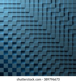 3D illustration of a blue abstract background