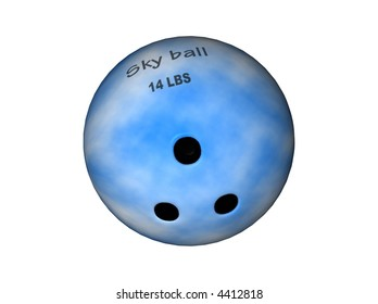 3D Illustration of a bowling-ball