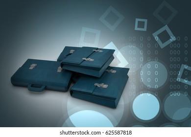 3d illustration of business bag
