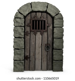 3d illustration of a castle door.  sc 1 st  Shutterstock & Dungeon Door Images Stock Photos u0026 Vectors | Shutterstock