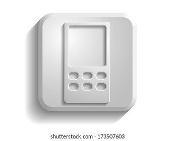 3d  illustration of cellphone icon