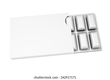 3d illustration of chewing gum on white background