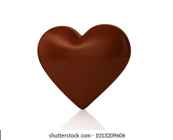 3D illustration of chocolate heart