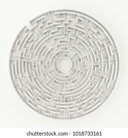 3d illustration of a circle maze