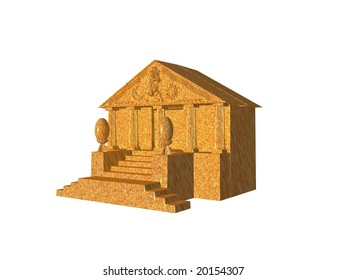 3D illustration of a classical style building