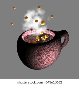 3d illustration,  coffee