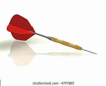 3d illustration of a darts