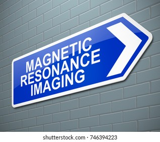 3d Illustration depicting a sign with a Magnetic Resonance Imaging concept.