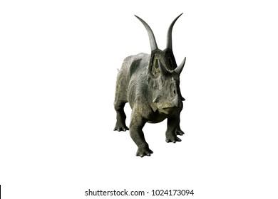 3D Illustration of the Diceratops dinosaur on white background