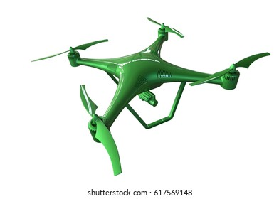 3d illustration of a Drone on a white background
