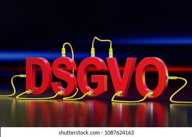 3D illustration - DSGVO