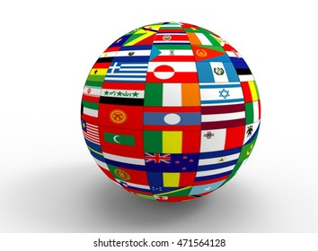 Similar images stock photos vectors of world flags form speech vector 3d illustration of earth globe with flags white background isolated icon for game web freerunsca Image collections
