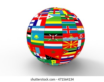 Similar images stock photos vectors of world flags form speech 3d illustration of earth globe with flags white background isolated icon for game web freerunsca Image collections