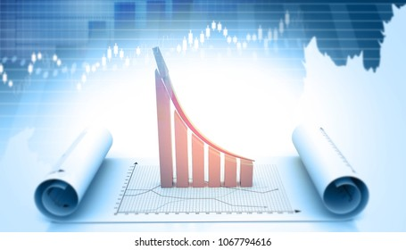 3d illustration of economic growth background