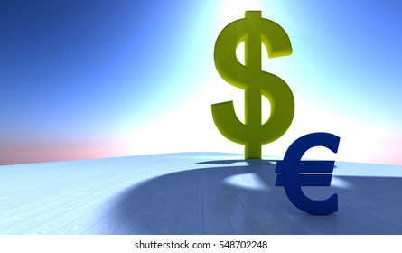 3d illustration of the economy concept